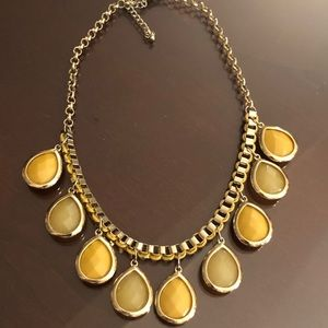 Yellow Faceted Collar Necklace